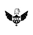 american eagle usa symbol retro design element vector image vector image