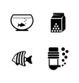 aquarium fish simple related icons vector image vector image