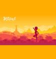 brazil carnival banner template vector image vector image