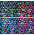 bright gem triangle pattern set vector image vector image