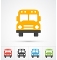 Bus trendy color icons vector image vector image
