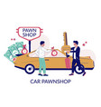 car pawnshop flat style design vector image vector image
