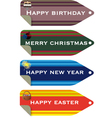 celebration tags vector image vector image