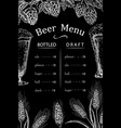 chalk drawn beer bar pub or restaurant menu vector image vector image