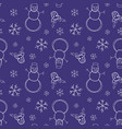 christmas new year seamless pattern vector image
