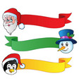 christmas ribbons collection 1 vector image