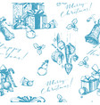 christmas seamless background with holiday vector image