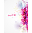 colorful abstract floral vector image vector image