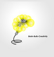 colorful light bulb logo design and creative vector image