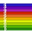 colorful numbered banner vector image vector image