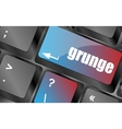 Computer keyboard with grunge word on enter button vector image