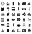 cook icons set simple style vector image vector image