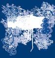 dark blue grunge background vector image