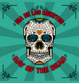 day of the dead dia de los muertos banner vector image vector image