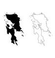 eastern visayas region map vector image vector image