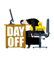 end of day time to relax businessman and swim vector image vector image