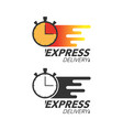 express delivery icon concept stop watch icon for vector image