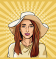 fashion woman pop art cartoon vector image vector image