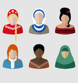 female icons vector image