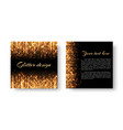 festive leaflet with glitter vector image vector image