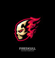 Fire skull concept design template