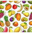 Fruit seamless pattern for food and drink design vector image vector image