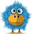 funny blue bird vector image vector image