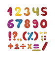 Funny number set vector image