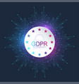 general data protection regulation gdpr european vector image vector image