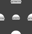 Hamburger icon sign Seamless pattern on a gray vector image