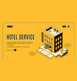 hotel room booking online service website vector image