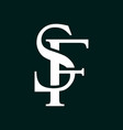 initial letter sf logo template with overlap vinta vector image vector image