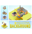 isometric industrial area colorful composition vector image
