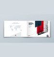 landscape brochure design red horizontal vector image vector image