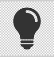 light bulb icon in flat style lightbulb on vector image vector image
