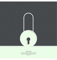 Lock with a shield vector image vector image