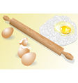 meal and eggs vector image vector image