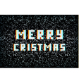 Merry Christmas card technology concept pixel vector image vector image