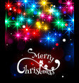 Merry Christmas typographical background with vector image vector image