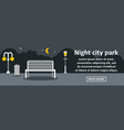 night city park banner horizontal concept vector image vector image