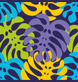 night tropics colorful seamless pattern with vector image vector image
