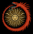 ouroboros ancient egyptian symbolism vector image