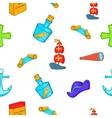 Pioneer pattern cartoon style vector image vector image