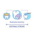 restorative dentistry concept icon vector image vector image