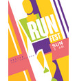 run fest colorful poster best marathon template vector image vector image