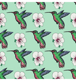 seamless background with hummingbird vector image vector image