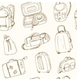 seamless pattern different travel bags and vector image vector image