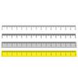 set metric rulers in flat style measuring vector image