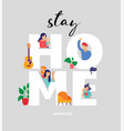 stay at home concept design different types of vector image vector image