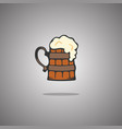 tankard beer isolated vector image
